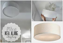 glamorous duo ventures how to install ikea alang ceiling lamp shades for light bulbs fan small