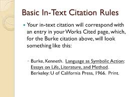 basic in text citation rules in mla style referring to the works  basic in text citation rules your in text citation will correspond an entry