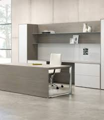 modern wood office furniture. Contemporary Grey Wood Desk Modern Office Furniture U