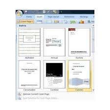 Learn How To Use Microsoft Office Word 2007 Cover Pages