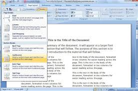 word templates 2007 create a two column document template in microsoft word cnet