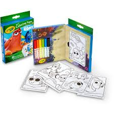 Crayola Mini Coloring Pages 80pgs 6ct Markers Finding Dory Target