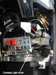 courtesy light extender for fiat ducato 2 8jtd maxi  showing courtesy light wiring canister