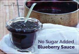easy no sugar added blueberry sauce recipe