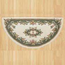 royal jewel jew01 cream green half moon traditional rug by oriental weavers