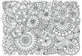 black and white flower pattern for coloring book doodle fl drawing art therapy colouring books photo stock vector adul