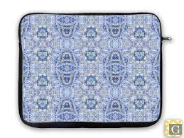Light Blue Laptop Case Indigo Light Blue Impressionist Ipad Case Laptop Bag