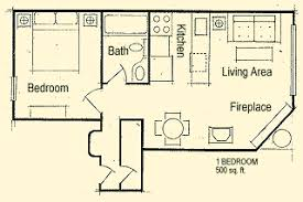 One Bedroom Condo Floor Plan