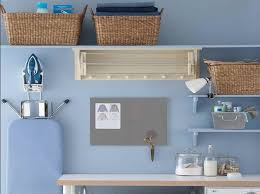 wall shelf with rattan basket as laundry room storage ideas decolover net
