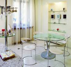 Kitchen Tables For Apartments Apartments Luxury Dining Room Apartment Design With Round Clear