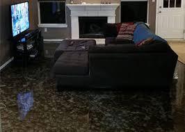 pure metallic coating floor example sweet brown basecoat with honeycomb effects