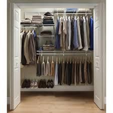 Design Your Own Closet Tool Closetmaid Shelftrack 5 Ft 8 Ft Closet Organizer Kit With
