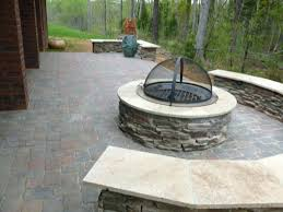 paver patio with gas fire pit. Patio Ideas: Outdoor Fire Pit Ideas Plans Backyard Paver With Gas