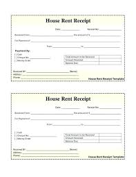 House Rent Receipt Template Enchanting Hotel Receipt Template Restaurant Bill Format In Excel Food Free