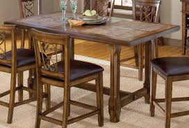 counter height dining table. Hillsdale Villagio Trestle Counter Height Dining Table - Dark Chestnut