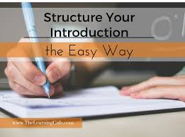 how to structure an introduction for an essay the learning cafe how to structure an introduction