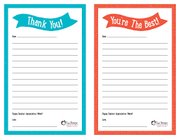 Printable Thank You Cards For Teachers