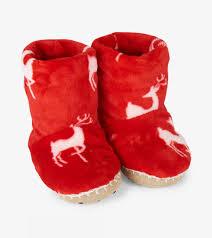 Hatley Size Chart Us Mistletoe Deer Fleece Slippers