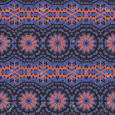 Bohemian Pattern Cool Vector Ethnic Colorful Bohemian Pattern In Dark Colors With Abstract