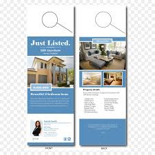 door hanger design real estate. Advertising Door Hanger Flyer Real Estate - Design