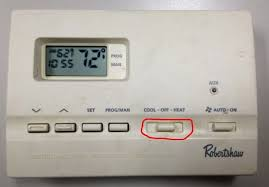 how to program a robertshaw 9615 thermostat share your repair step 1 set the thermostat to the mode you wish to program