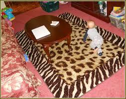 animal print area rugs target