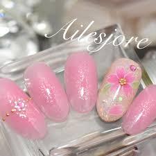 桜ネイル40選2017年最新版春におすすめの大人可愛い桜ネイルの