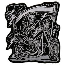 hot leathers 9 x 11 reaper rider 9 x11 patch