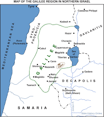 map of galilee and northern israel (bible history online)