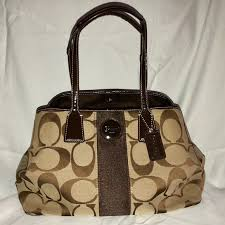 Classic monogram Coach satchel