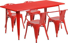 outdoor metal table. Simple Table Red 315 On Outdoor Metal Table K