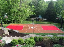 home basketball court design. You\u0027ve Made The Exciting Decision To Install A Home Basketball Court. Now Comes Fun Part: Choosing Colors And Design For Your Court