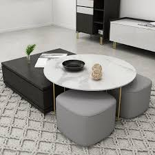 round and square nesting coffee table