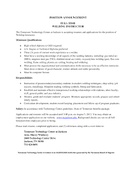 Resume Welder Resume Sample