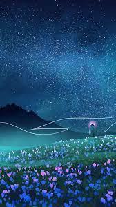 Night Sky Stars Beautiful Art iPhone ...