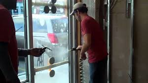 commercial security door. How To Install Security Film On Tempered Glass: Commercial Door Demo - YouTube