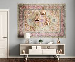 from the floor to the wall how to hang your rug
