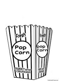 Small Picture Printable Popcorn Coloring Pages Camp Art Project Ideas