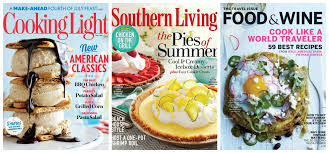 Cooking Light Magazine Cancel Subscription Southern Living Cooking Light And Food Wine Magazines For