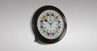 63 r a f wwii sector clock mahogany wall fusee