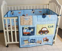 new blue cars airplan boy baby crib cot bedding set 3 items including comforter per fitted sheet kids bedding sets for boys full size full kids bedding