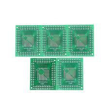 <b>5pcs Qfp</b> /<b>Tqfp</b> /Lqfp /Fqfp 32 /44 /64 /80 /100 To Dip Adapter Pcb ...