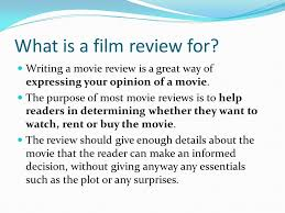 how to write a film review ppt video online  what is a film review for