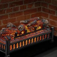 electric fireplace ling log glowing heater 20 insert kit pleasant hearth