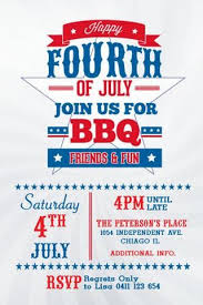 4th Of July Invitation Template Happy 4th July In 2019