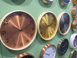 copper and gold karlsson clocks