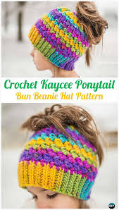 Free Crochet Pattern For Messy Bun Hat Custom Crochet Ponytail Messy Bun Hat Free Patterns [Instructions]