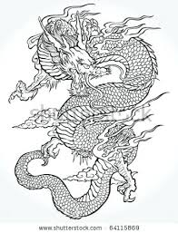 Tradition Dragon Illustration Vector Asian Art Chinese Wall Rootupco