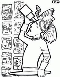Small Picture Mayan Civilization coloring page 2 Maya Inca Aztque Pinterest