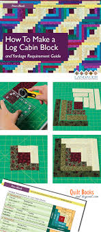 Log Cabin Quilt Block Guide Shows How To Make the Log Cabin Block ... & Log Cabin Quilt Block Guide Shows How To Make the Log Cabin Block PLUS  Yardage Guidelines Chart - Quilt Books & Beyond by Mignon Beavis Adamdwight.com